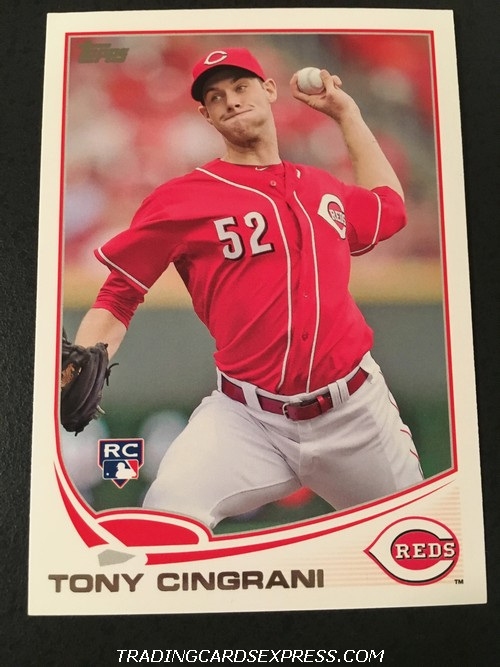 Tony Cingrani Reds 2013 Topps Rookie Card 142 Front