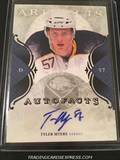 Tyler Myers Sabres 2011 2012 Artifacts Autofacts Autograph Card ATM Front