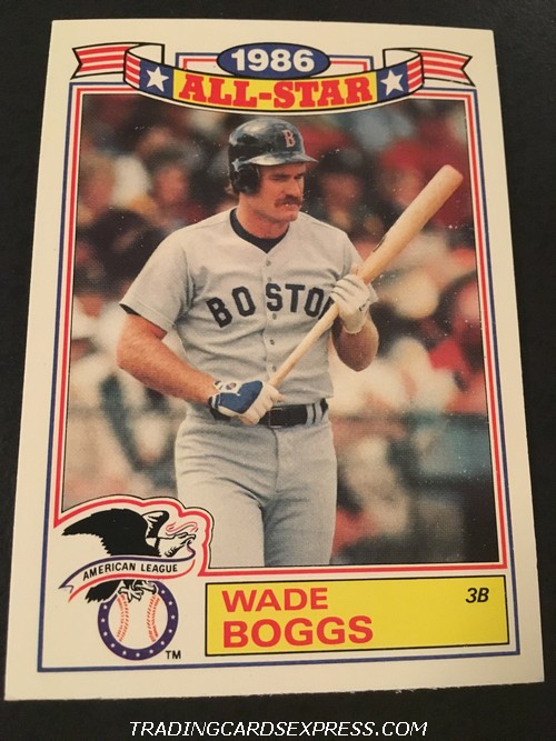 Wade Boggs Red Sox 1987 Topps All Star Game Commemorative Set 15 Front