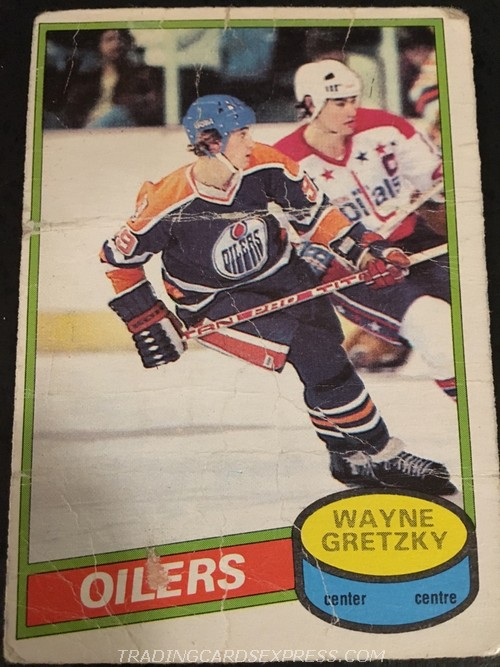 Wayne Gretzky Oilers 1980 1981 O Pee Chee 250 Front