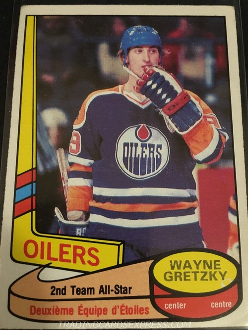 Wayne Gretzky Oilers 1980 1981 O Pee Chee All Star 87 Front
