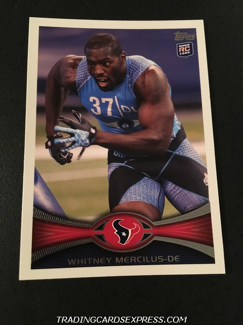 Whitney Mercilus Texans 2012 Topps Rookie Card 156 Front