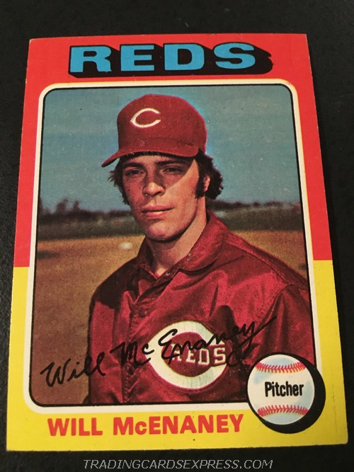 Will McEnaney Reds 1975 Topps Mini Rookie Card 481 Front