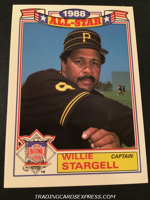 Willie Stargell Pirates 1989 Topps All Star Game Commemorative Set 22 Front