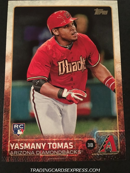 Yasmany Tomas Diamondbacks 2015 Topps Rookie Card 542 Front
