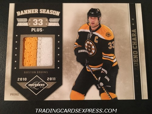 Zdeno Chara Bruins 2011 2012 Panini Limited Banner Season Prime Jersey Card 18 06 50 Front