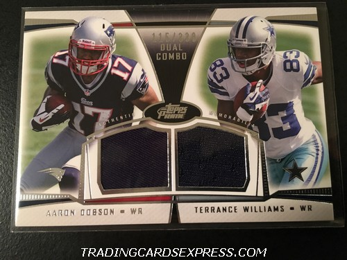 Aaron Dobson Patriots Terrance Williams Cowboys 2013 Topps Prime Dual Combo Jersey Card DCRDW 115 330 Front