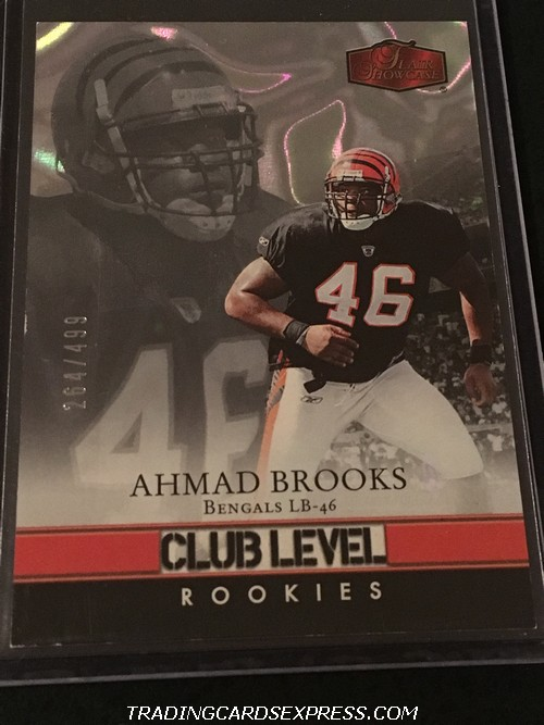 Ahmad Brooks Bengals 2006 Fleer Showcase Club Level Rookie Card 170 264 499 Front
