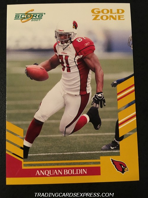 Anquan Boldin Cardinals 2007 Score Gold Zone 106 493 600 Front