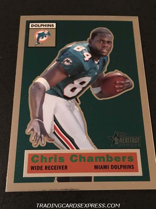 Chris Chambers Dolphins 2001 Topps Heritage Rookie Card 118 168 556 Front