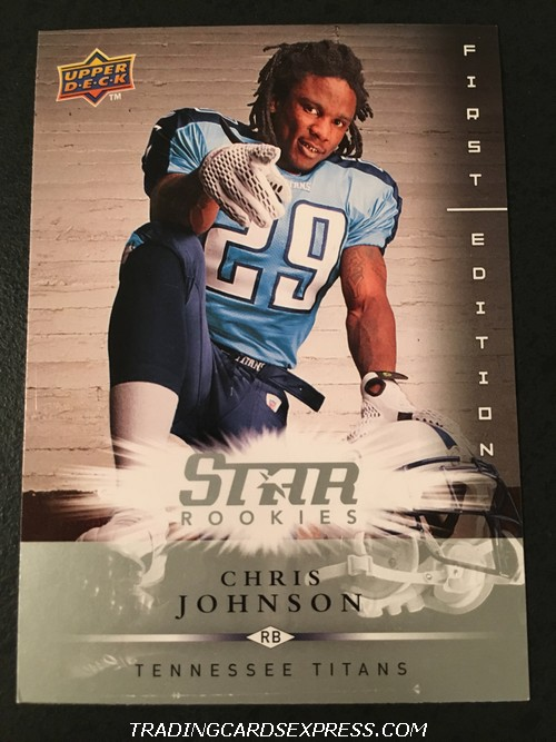Chris Johnson Titans 2008 Upper Deck First Edition Star Rookie Card 157 Front