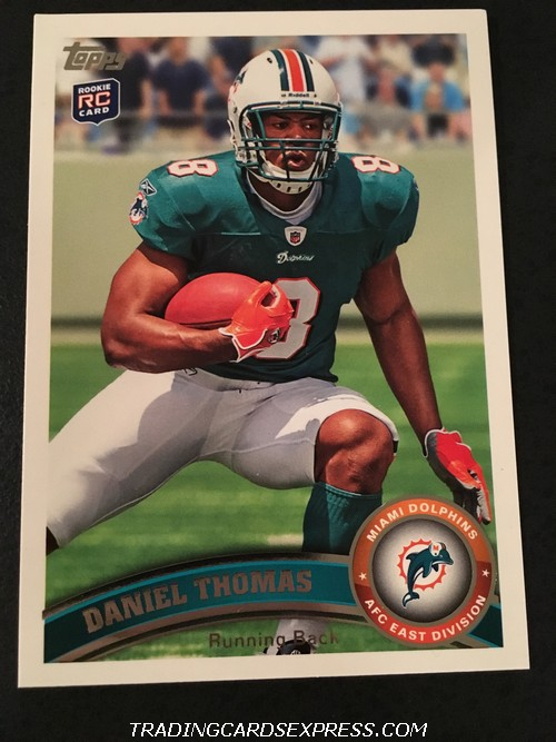 Daniel Thomas Dolphins 2011 Topps Rookie Card 366 Front