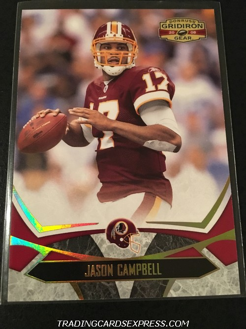 Jason Campbell Redskins 2008 Donruss Gridiron Gear Gold 98 078 200 Front