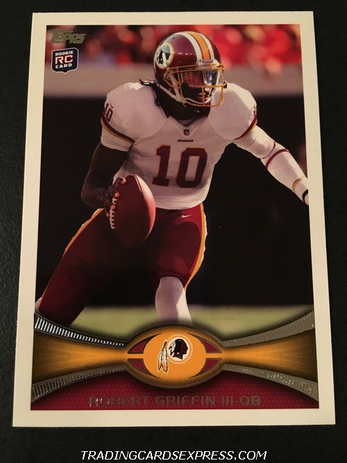 Robert Griffin III Redskins 2012 Topps SP White Jersey Rookie Card 340 Front