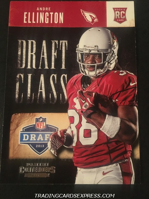 Andre Ellington Cardinals 2013 Panini Contenders Draft Class Rookie Card 1 Front