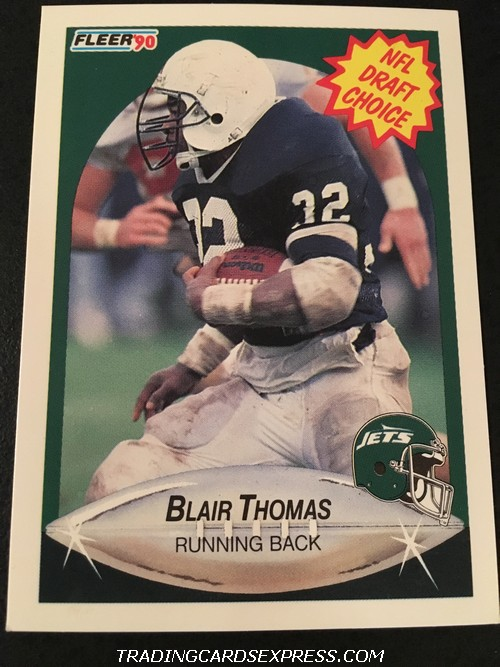 Blair Thomas Jets 1990 Fleer Rookie Card 370 Front