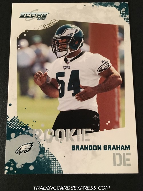 Brandon Graham Eagles 2010 Panini Score Rookie Card 311 Front