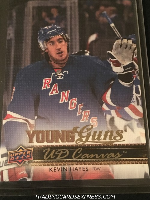 Kevin Hayes Rangers 2014 2015 Upper Deck Young Guns Canvas Rookie Card C238 Front