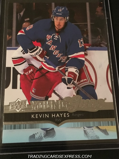 Kevin Hayes Rangers 2014 2015 Upper Deck Young Guns Rookie Card 490 Front