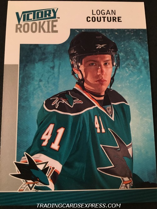 Logan Couture Sharks 2009 2010 Upper Deck Victory Rookie Card 329 Front
