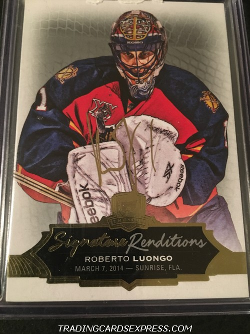 Roberto Luongo Panthers 2016 2017 Upper Deck The Cup Signature Renditions Autograph Card SRRL Front
