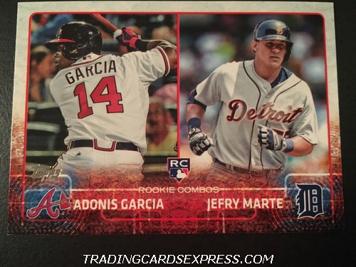 Adonis Garcia Braves Jefry Marte Tigers 2015 Topps Rookie Combos Rookie Card US108 Front