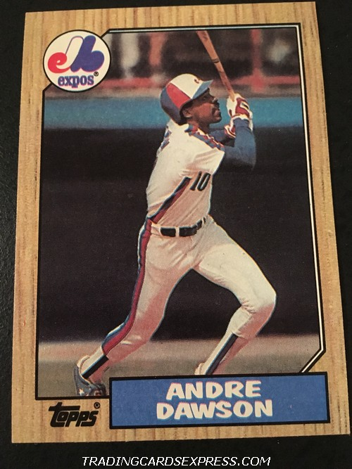 Andre Dawson Expos 1987 Topps 345 Front