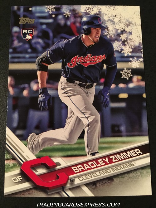 Bradley Zimmer Indians 2017 Topps Walmart Holiday Rookie Card HMW21 Front