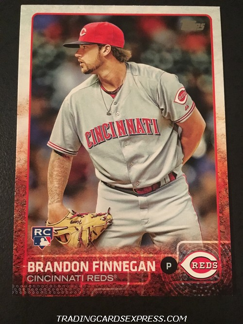 Brandon Finnegan Reds 2015 Topps Rookie Card US354 Front