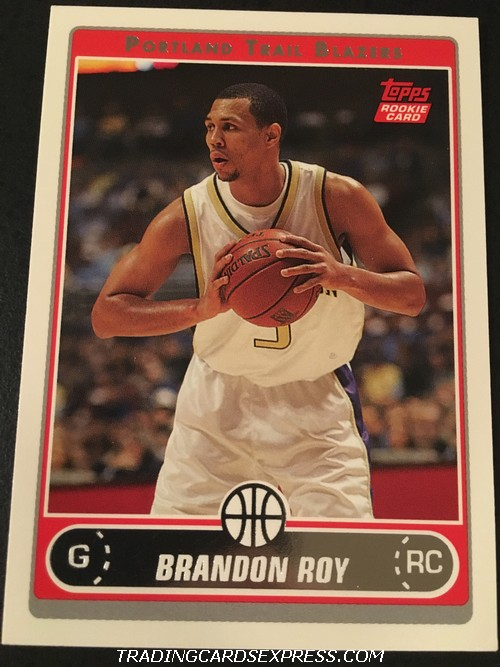 Brandon Roy Trail Blazers 2006 2007 Topps Rookie Card 246 Front