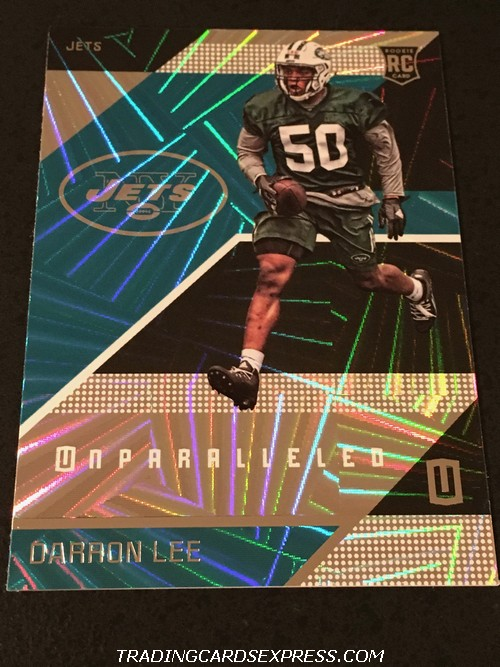 Darron Lee Jets 2016 Panini Unparalleled Rookie Card 160 Front