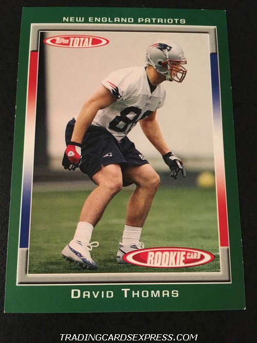 David Thomas Patriots 2006 Topps Total Rookie Card 531 Front