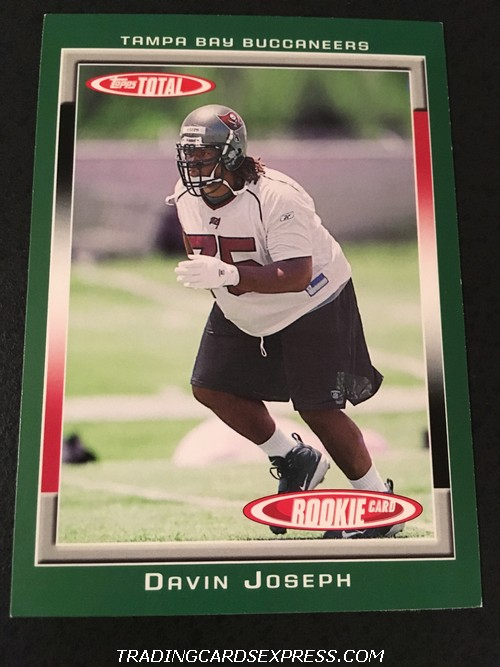 Davin Joseph Buccaneers 2006 Topps Total Rookie Card 468 Front