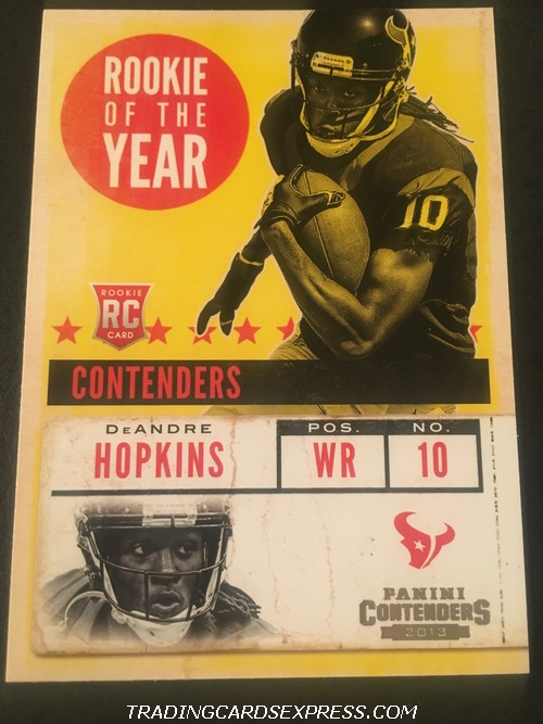 DeAndre Hopkins Texans 2013 Panini Contenders Rookie Of The Year Rookie Card 2 Front