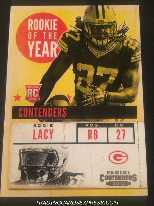 Eddie Lacy Packers 2013 Panini Contenders Rookie Of The Year Rookie Card 3 Front
