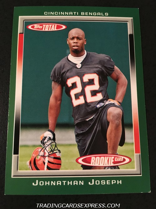 Johnathan Joseph Bengals 2006 Topps Total Rookie Card 456 Front