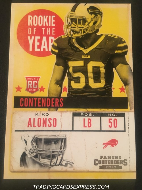 Kiko Alonso Bills 2013 Panini Contenders Rookie Of The Year Rookie Card 18 Front