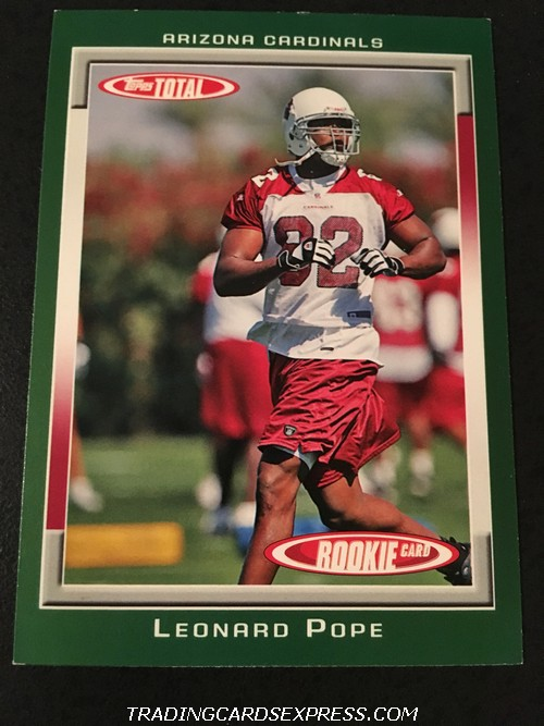 Leonard Pope Cardinals 2006 Topps Total Rookie Card 444 Front