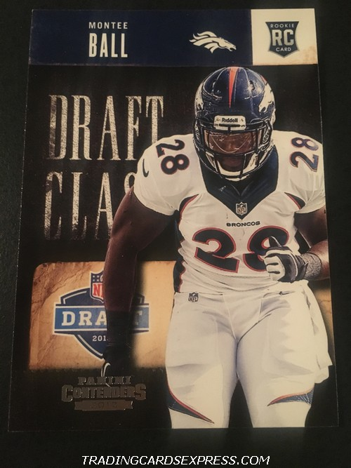 Montee Ball Broncos 2013 Panini Contenders Draft Class Rookie Card 12 Front