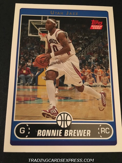 Ronnie Brewer Jazz 2006 2007 Topps Rookie Card 248 Front
