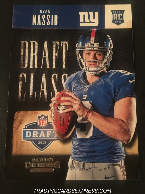 Ryan Nassib Giants 2013 Panini Contenders Draft Class Rookie Card 14 Front