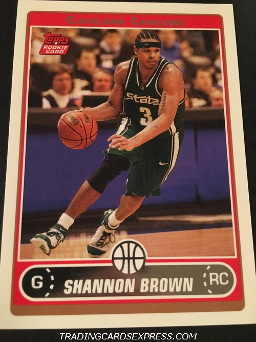 Shannon Brown Cavaliers 2006 2007 Topps Rookie Card 265 Front
