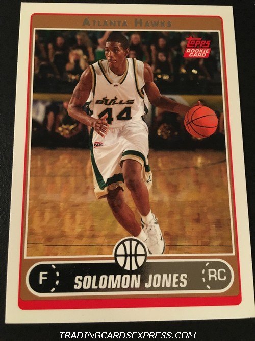 Solomon Jones Hawks 2006 2007 Topps Rookie Card 261 Front
