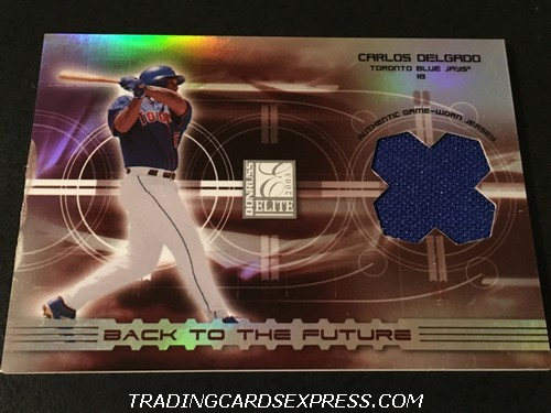 Carlos Delgado Blue Jays Josh Phelps Blue Jays 2003 Donruss Elite Back To The Future Jersey Card BF15 123 125 Front