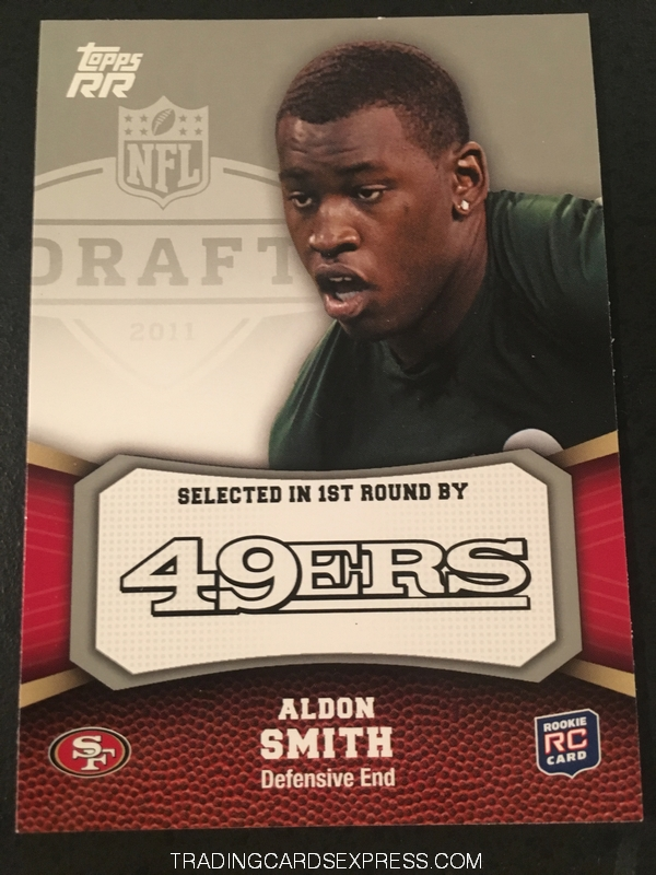 Aldon Smith 49ers 2011 Topps Rising Rookies Rookie Card 102 Front