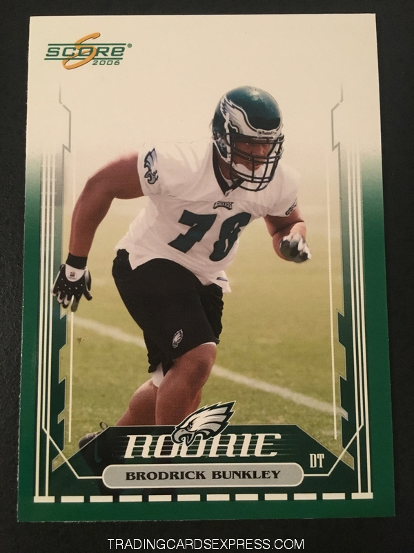Brodrick Bunkley Eagles 2006 Score Rookie Card 358 Front