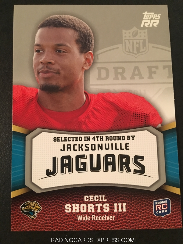 Cecil Shorts III Jaguars 2011 Topps Rising Rookies Rookie Card 171 Front