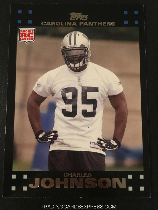 Charles Johnson Panthers 2007 Topps Rookie Card 355 Front