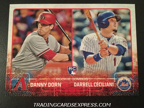 Danny Dorn Diamondbacks Darrell Ceciliani Mets 2015 Topps Rookie Combos Rookie Card US256 Front