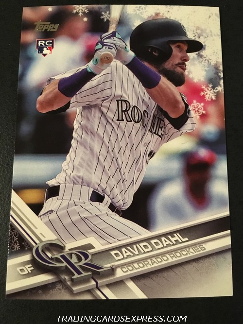 David Dahl Rockies 2017 Topps Walmart Holiday Rookie Card HMW126 Front